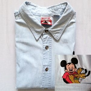 VTG Mickey Inc. Mickey & Pluto Short Sleeve Shirt